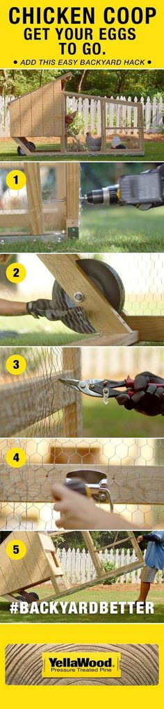 Get your eggs to go with this easy chicken coop backyard hack. Get your eggs to go with this easy chicken coop backyard hack. Easy Chicken Coop, Chicken Pen, Chicken Coup, Backyard Chicken Coops, Chicken Coop Plans, Building A Chicken Coop, Chickens Backyard, Chicken Feeders, Backyard Ideas