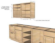 Wall Kitchen Cabinet Basic Carcass Plan | Ana White
