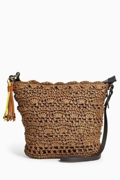 Buy Chocolate Woven Bucket Bag from Next Slovakia