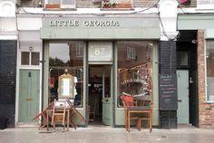 Little Georgia, Hackney Shop Fronts, Georgia, Exterior, Vintage, Store, Places, Inspiration, Store Windows, Biblical Inspiration