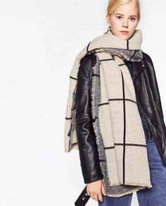 Cheap women cashmere scarf, Buy Quality brand cashmere scarf directly from China cashmere brand scarf Suppliers: Winter Spain Scarf Brand Pashmina Bufandas Plaid Women Cashmere Scarf Wraps Bandana Shawl Capes Scarves Cape Scarf, Tartan Scarf, Zara, Fashion Face, Girl Fashion, Cashmere Pashmina, Checked Scarf, Winter Dresses, Dress Winter