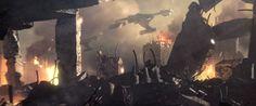 Axanar planetary surface bombardment by Klingon fleet. Copyright Axanar Productions