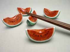 watermelon chopstick rest set