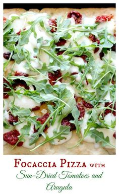 This crust is the perfect base for fresh mozzarella, sun-dried tomatoes and arugula!  Even the kids ate it!