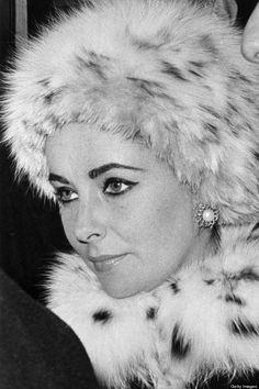 Elizabeth Taylor in Fur Hat- No one could wear Fur or Turbans like Liz!