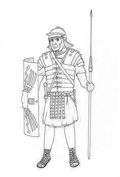 Roman Soldier Cloak How To Draw A Roman Soldier Roman