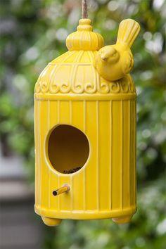 Loving this Yellow & Blue Birdhouse Set on #zulily! #zulilyfinds ...