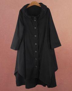 high quality women Cotton windbreak Linen coat by prettyforest22