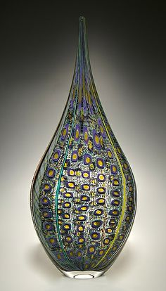 Purple/Yellow Resistenza:David Patchen:Art Glass Vessel-STUDIO SALE | Artful Home <3<3<3FAB<3<3<3