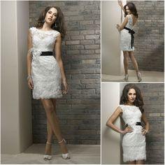 hermosa tela de encaje elegante gorra mangas abiertas de nuevo corto sexy vestidos de novia-XL Falda-Identificación del producto:610782217-spanish.alibaba.com