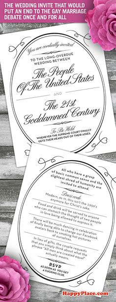 The Wedding Invite That Would Finally Put An End To The Gay Marriage Debate Once And For All