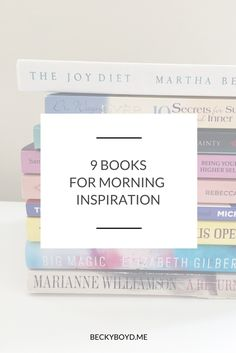 Having some time to center myself each morning is my personal key to a good day.  I keep a basket of books handy so that I can easily pick one up and open to a random page for inspiration, positive thoughts, and ideas. Here are nine of my favorites - click through to read: http://www.beckyboyd.me/2016/06/9-books-morning-inspiration.html