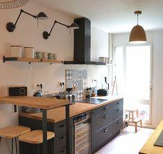 Cheap Home Decor .Cheap Home Decor Apartment Kitchen, Home Decor Kitchen, Kitchen Interior, New Kitchen, Home Kitchens, Kitchen Ideas, Kitchen Planning, Farmhouse Kitchens, Farmhouse Interior