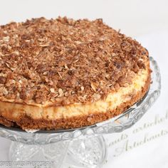 Caramel Apple Crumble Cheesecake by @Sweet Twist of Blogging