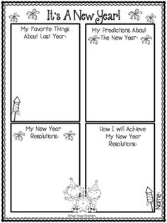 Celebrate the New Year with this graphic organizer.  This is a great writing activity for the classroom.