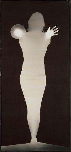 Bruce ConnerANGEL, 1975, gelatin silver print photogram, 85 x 39 in. (215.9 x 99 cm). Collection Walker Art Center