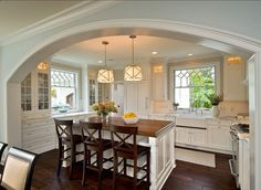 Not all cased openings have to be square! I love the soft curve of this arch.