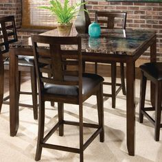 Bella Counter Height Table In Deep Brown by Standard Furniture Standard Furniture http://www.amazon.com/dp/B004M1J4YG/ref=cm_sw_r_pi_dp_M9Weub057GB2F