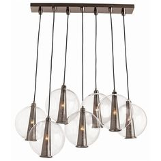 love this light for over a long rectangular dining table instead of a traditional chandelier.  shopdfo.com