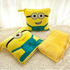 Despicable Me Minions Home Bed Sofa Chair Car Throw Cushion Pillow Blanket Decor #PillowDcor