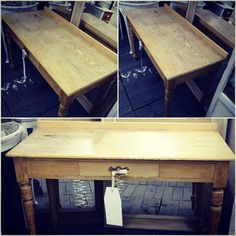 Dainty side table made from ash. Previously of Hallgarth Manor £185
