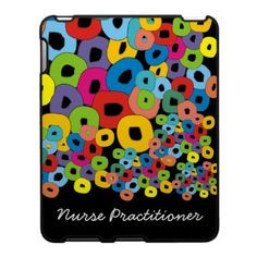 Nurse Practitioner Colorful Abstract art iPad case (fabric inlaid)