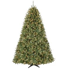 Prelit Artificial Christmas Tree | Carrington Pine Pre-Lit Artificial Christmas Tree - American Sale