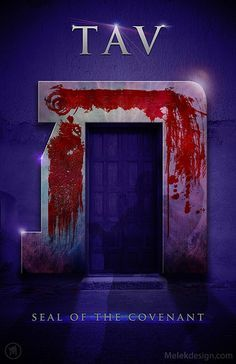 The blood on the door lintel and posts would have created the Hebrew letter Tav = T