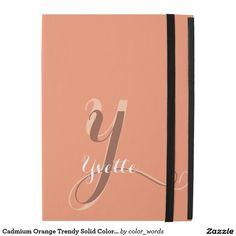 Cadmium Orange Trendy Solid Color Personalized iPad Pro Case