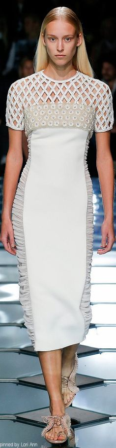 Balenciaga Spring 2015 RTW...I love the dress...the shoes...not really.