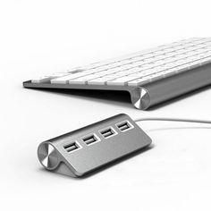 Satechi ST-UHA USB 2.0 Hub adds four additional USB ports to your Mac