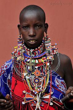 Africa | Teenage Maasai. Amboseli National Park, Kenya | ©Nawapa