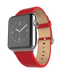 Hoco Apple Watch 38 mm CASUAL Lederarmband - Rot