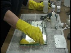 How To Antique a Commercial Mirror, gonna be doing this soon!