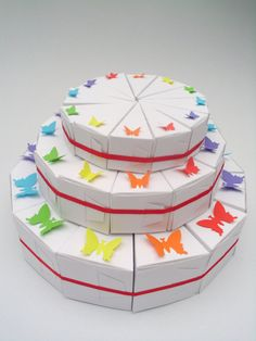 36 favor boxes  the rainbow cake by hyp1ro on Etsy, $12.00