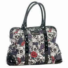 Sullen Art Collective Angels SA DOD Satchel Canvas Bag with Graphic Screen Art Satchel Purse, Satchel Handbags, Leather Handbags, Crossbody Bag, Hobo Purses, Purses And Handbags, Skull Purse, Tattoo Clothing, Women's Accessories