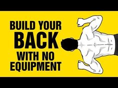 Build a Strong Back With NO Equipment at Home - Bodyweight Back Workout - YouTube