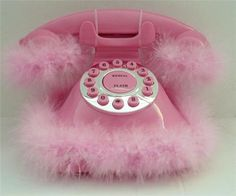 Fluffy pink phone-Sally Speed?
