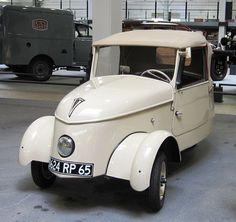 1942 Peugeot Electric Micro Car (Voiture Légère-de-Ville) 4-12V Batteries with…