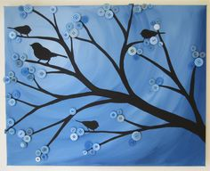 1000 ideas about button tree on pinterest button art for Crafts for seniors with limited dexterity