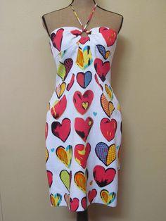 David Meister Heart sun dress