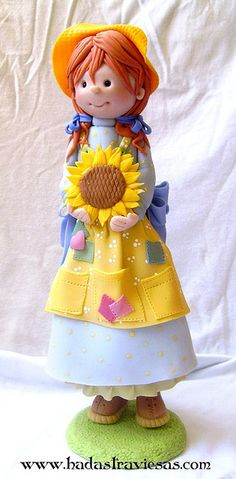 *POLYMER CLAY ~ campesina by hadastraviesas, via Flickr