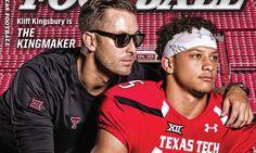 Kliff Kingsbury and Patrick Mahomes Make Cover of Dave Campbell's Texas Football