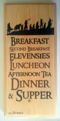 Diet Sign, Lord Of The Rings Gift Hobbit Hole Kitchen Breakfast 455 The Hobbit Diet Plaque / Sign / Gift - Lord Of The Rings Kitchen Breakfast 455 Hobbit Hole, The Hobbit, Tolkien Hobbit, Legolas, Gandalf, Hobbit Quotes, Hobbit Party, Party Rings, One Ring
