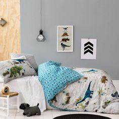 Adairs Kids Boys Jurassic - Bedroom Quilt Covers & Coverlets - Adairs Kids online