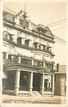 "Wisconsin, WI, Edgerton, Hotel ""The Carolton"" 1912 Real Photo Postcard"