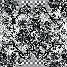 Vector black lace creative background graphics 03