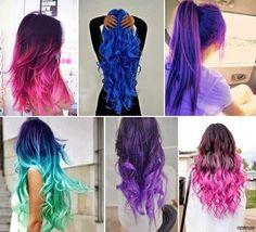 Love that mermaid blue/green hair!