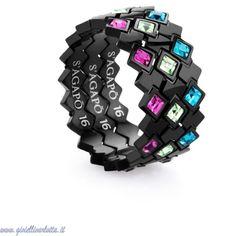 #SAGAPO' #Anelli #VICTORIA Acciaio cristalli colorati SVC05 http://www.gioiellivarlotta.it/product.php?id_product=1229