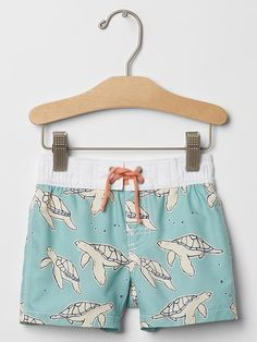 Sea turtle swim trunks | Gap